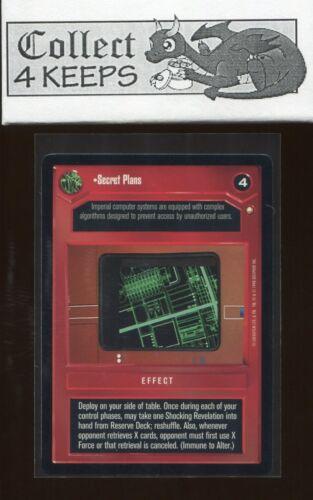 Secret Plans Star Wars CCG Special Edition SE Nrmt//Mint SWCCG