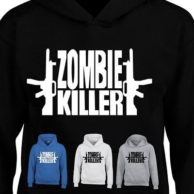 Costume Inspired Hoody Dress Zombie Killer Two Gun Shot Kids Adult Hooded