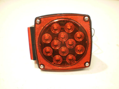 PAIR Boat Trailer LED Box Red Brake Stop Turn Tail Camper Under 80 w// Wire Leads