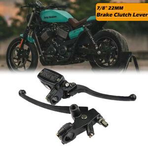 7-8-034-CNC-Moto-Frein-avant-Maitre-Cylindre-Embrayage-Set-Levier-Reservoir-Noir
