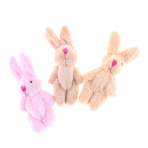 Cute Soft Mini Joint Rabbit Pendant Plush Bunny Toy Doll DIY Key Chain Gifts UK
