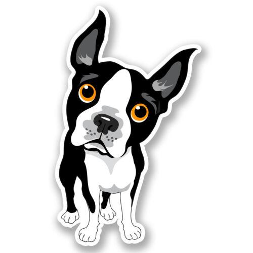 2 X Bulldog Francés pegatina de vinilo Ipad Laptop Casco Perro Animales Niños Regalo # 4507