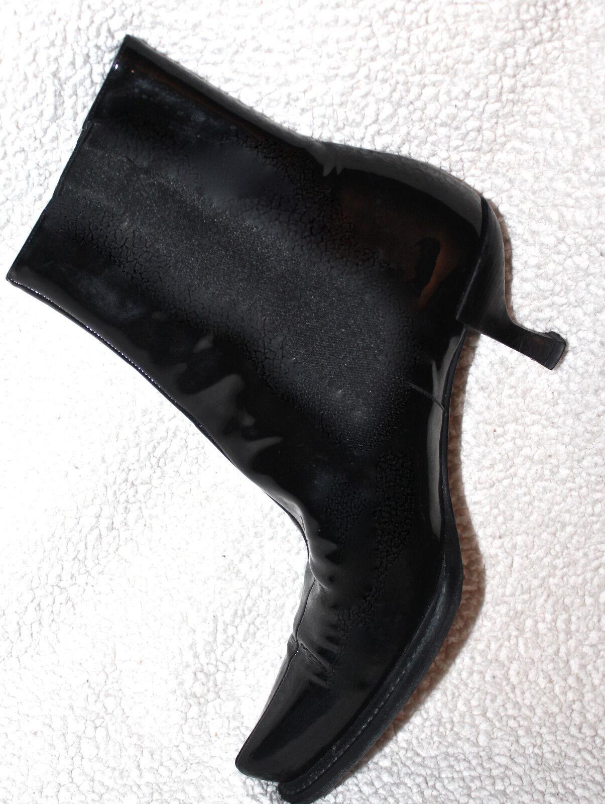 PRADA SIZE WOMEN'S BLACK LEATHER Stiefel~ SIZE PRADA 38 US 7.5M 9af73e