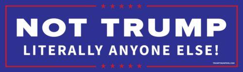 Bi-Partisan Blue Not Donald Trump Anti Trump Bumper Sticker