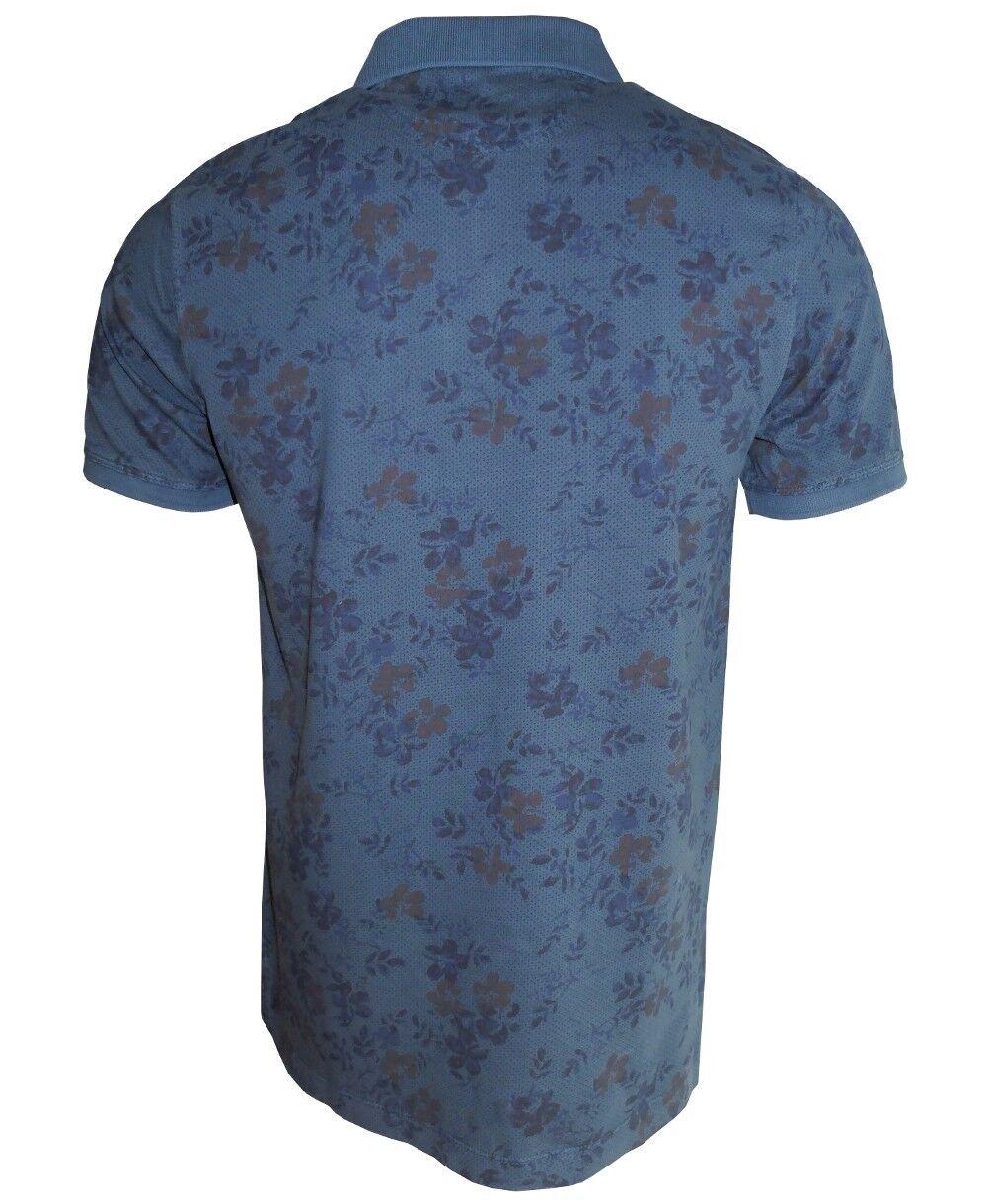 Baileys Vintage Vintage Vintage Polo Shirt in petrolblau gepunktet mit Floralmuster Gr. M - 4XL   Verschiedene Arten und Stile  fab98f