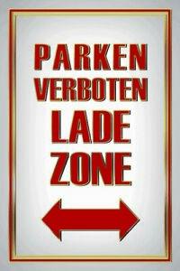Prohibido-Aparcar-Zona-de-Carga-Letrero-Metal-Arqueado-Cartel-Lata-20-X-30CM
