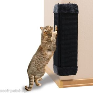 NEW-Black-Corner-Scratching-Post-For-cats-amp-Kittens-4343
