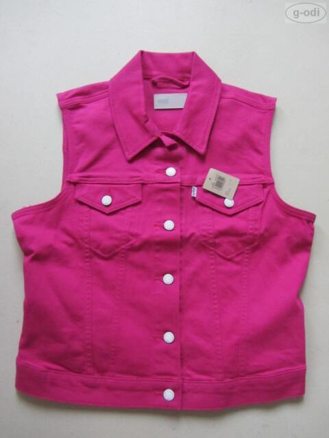 Levi's ® Biker Jeans Weste Jeansweste Gr. L, NEU ! Pink Coloured Denim RARITÄT !