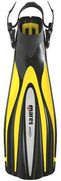 Mares Excel + Plus Open Heel Scuba Diving Dive Fins - Yellow - All Sizes