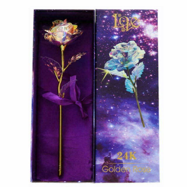 Galaxy Rose Flower Valentine/'s Day Lovers/' Gift Romantic Flowers With Love Base