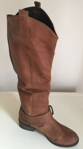 Knee Size High 3 Leather Aldo Womens Boots Shoes Tan Uk qnSRctUBO