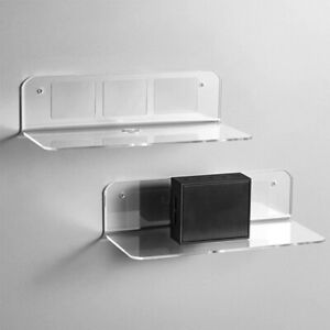 1/2/5PCS Wall Floating Shelf Set DIY Mount Storage Book Display Rack Acrylic AU