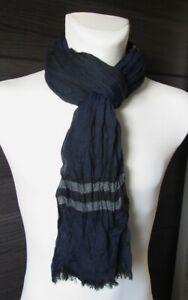 Cheche-foulard-echarpe-pour-homme-bleu-et-gris-180-x-60-cm