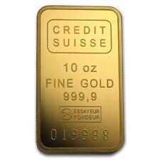10 oz Credit Suisse Gold Bar - With Assay - SKU #74195