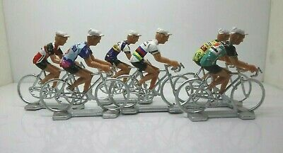 Roger Devlaeminck cycling figurines set miniature Brooklyn Gios Torino colnago