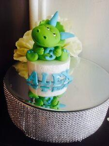 Edible Dinosaur, Age & Name Fondant Cake toppers ...