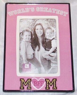 """13369 AngelStar Stand//Hang Modern Resin Photo 4/"""" X 6/"""" Frame Mom A Best Friend"""