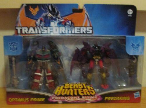 Transformers Beast Predacons Rising Optimus Prime And Predaking Figures