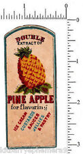 3477 Pineapple flavoring extract c. 1890 bottle label food cooking culinary