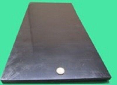 "Thick x 12/"" Wide x 24/"" Long 4 Unit HDPE Polyethylene Sheet Black .188/"" 3//16"