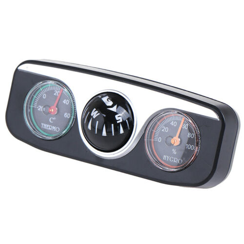 3 in 1 Guide Ball Compass Thermometer Hygrometer For Auto Boat Vehicles P1