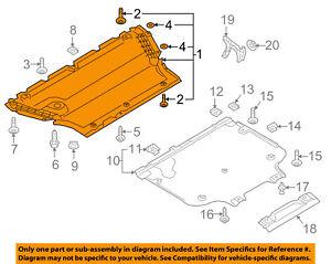 audi oem a4 allroad splash shield fr under radiator engine cover rh ebay com