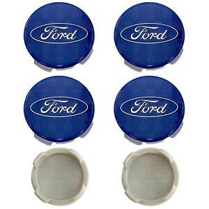 4-x-Ford-Alloy-Wheel-Centre-Cap-Caps-54mm-Hubs-For-Focus-Fiesta-KA-Kuga-Blue
