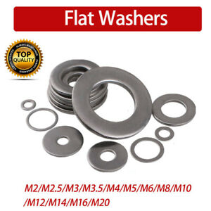 M3 M4 M5 M6 M8 M10 M12-M20 Nylon Flat Washers to fit Metric Bolts /& Screws Clear
