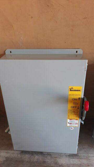 Bussmann Cooper Power Elevator Control Switch 200amp 480vac W   Fuses  U0026 Neutral