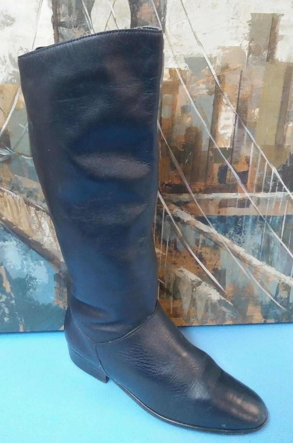 Hunt Club Black Leather Riding Boots Size 9 W  Style 199638