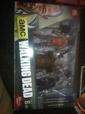 The Walking Dead Morgan with Impaled Walker Spike Trap Deluxe Action Figure New