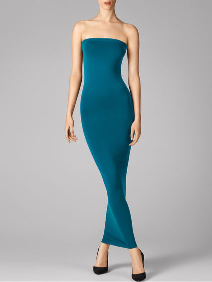 WOLFORD FATAL TUBE DRESS in Turquoise bluee, Size S  Ret  New in Box Tags