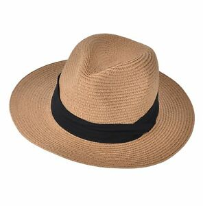 1b431062edec Urban CoCo Women s Wide Brim Straw Panama Floppy Beach Sun Hat with ...