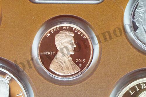 2015 S Partial PROOF Kennedy Half Penny Dime Nickel Native $1 5 Coins NO BOX COA