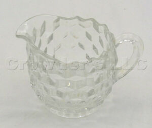 Decorative pressed glass cream pitcher for tea coffee for Cream glass coffee table