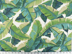 Drapery Upholstery Fabric Indoor Outdoor Tropical Leaves
