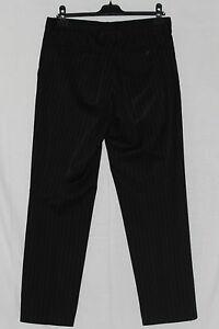 Costume-DOLCE-amp-GABBANA-D-amp-G-noir-raye-gris-t-42-laine-AUTHENTIQUE
