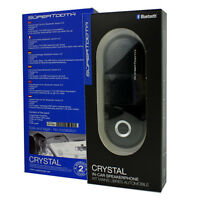 Blueant Supertooth Crystal Bluetooth Car Kit Speakerphone Handsfree Black Retail