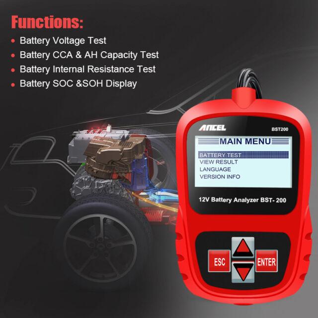 Car Battery Tester Automotive Battery Analyzer 1100cca Battery