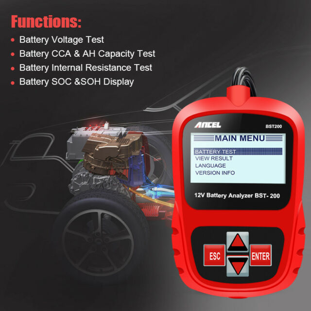Car Battery Tester Automotive Battery Analyzer 1100cca Battery Diagnostic Tools