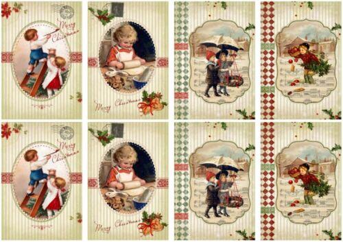 Bastelpapier Weihnachten.Decoupage Serviettentechnik Softpapier Vintage Weihnachten Christmas