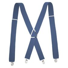 """SF2-R PERRY CLIP-ON TO BELT 2/"""" SUSPENDERS Y-BACK CHARCOAL TOOLS"""