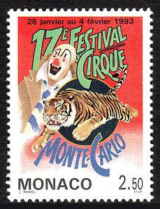 Monaco 1842, MNH. 17th Intl. Circus Festival, 1993