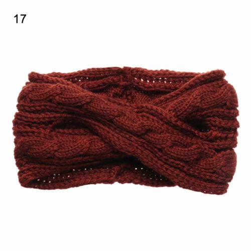 Winter Warmer Crochet Headband Knitted Headwrap Wool Turban Hairband