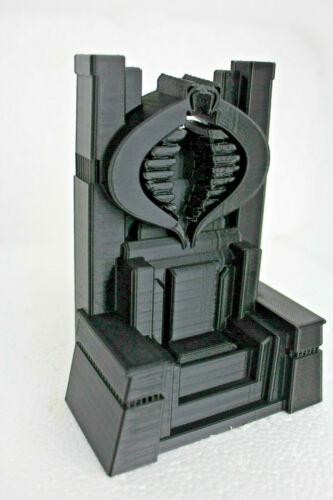 GI Joe Cobra Custom Throne black  3D Printed free shiping!