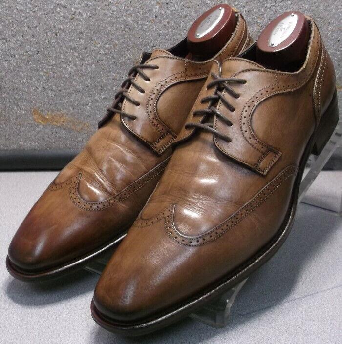 242604 PFi60 Zapatos de hombre M de cuero marrón Hecha en Italia Johnston & Murphy