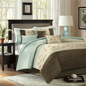 Beautiful Modern Elegant Soft Light Blue Aqua Brown Beige
