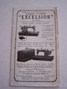 """Publicite , Machines A Coudre """" Excelsior """" Depliant 12 Pages . Bon Etat . Tmaysuye-08005136-369290901"""