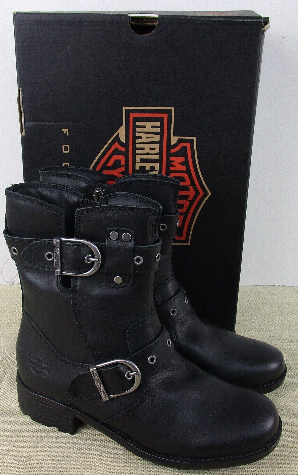 Harley Davidson D83728 MUJER botas de Cuero Negro Soze 7 Nuevo en Caja