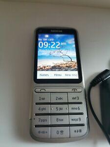 Nokia C3-argent (T Mobile) téléphone portable